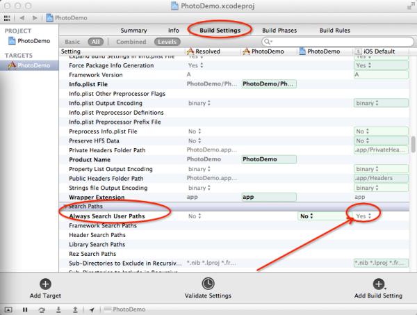 xcode 打开第三方工程显示
