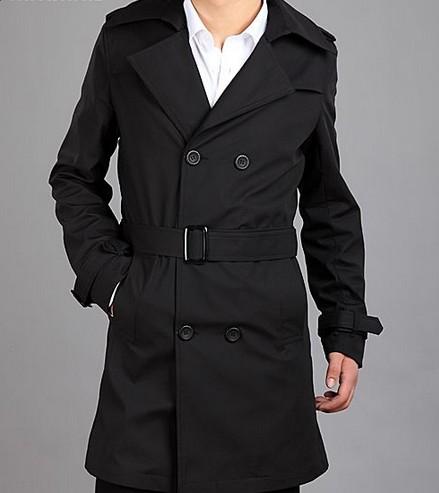 男士中长款风衣外套_男士中长款皮风衣外套