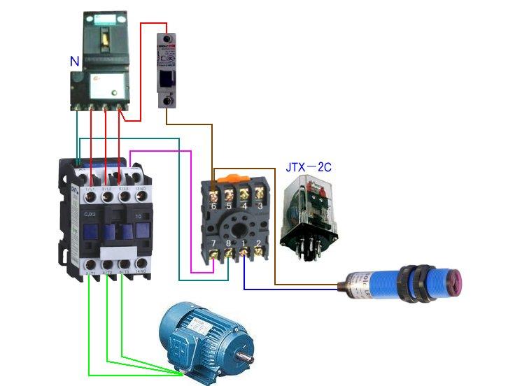380v转220v怎么接线_220v交流接触器接线图