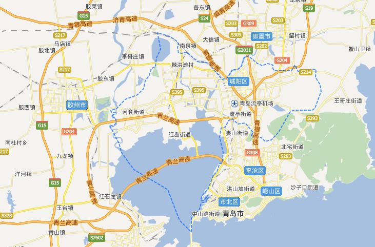 青岛城阳区地图