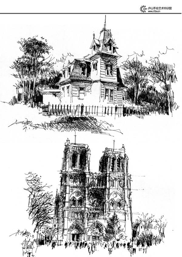 有名的建筑速写_那有欧洲经典古建筑速写图片_百度知道