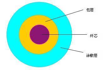 典型光纤由几部分组成