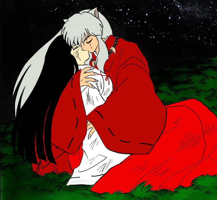 犬夜叉图片动漫版桔梗_犬夜叉和桔梗接吻的图片!?_百度知道