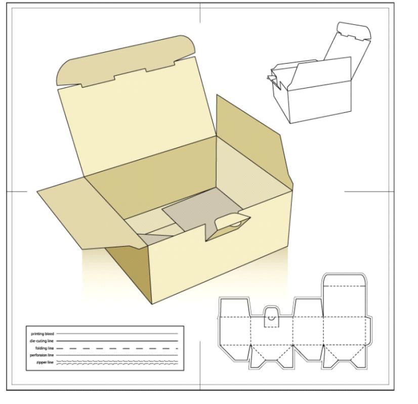 包装盒子平面展开图_设计包装盒展开图尺寸 105*160*60纸盒内径 最好有CAD图 标注尺寸 ...