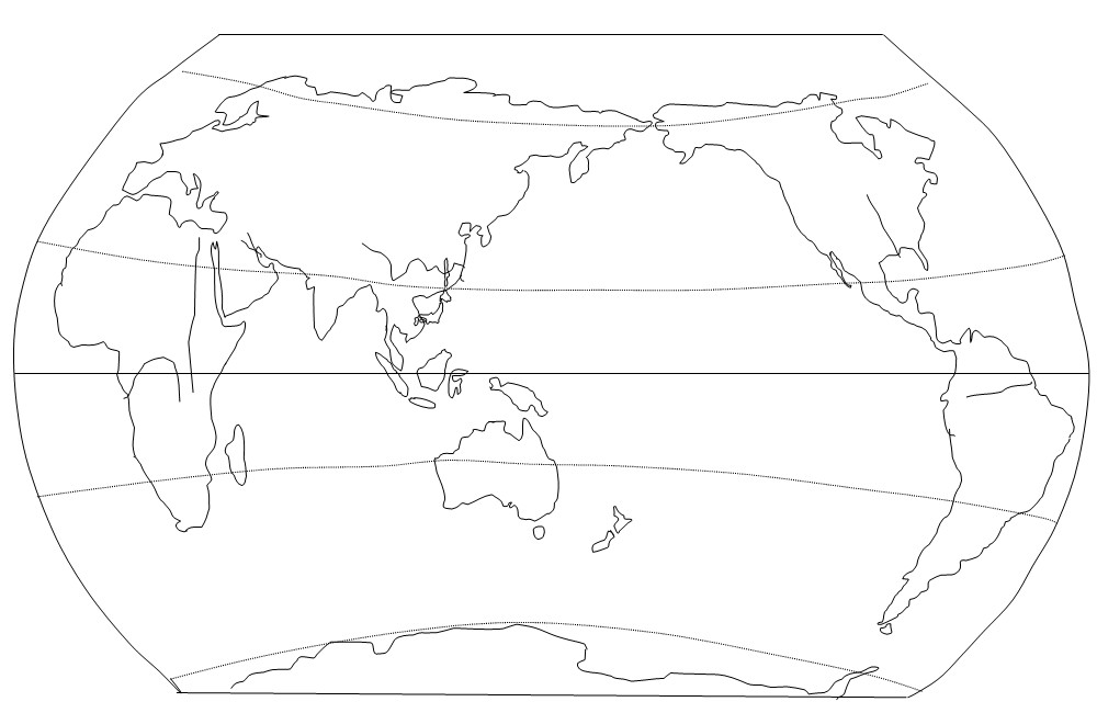 地理空白世界地图与中国地图