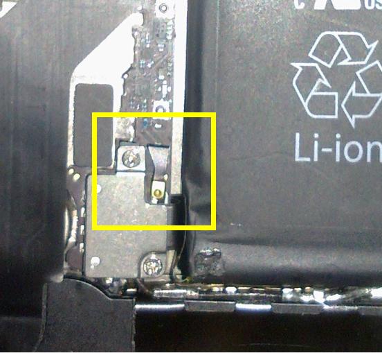 苹果4s听筒拆机图_iphone4s拆电池时那个压信号天线的小铁片怎么装回去,有图最好 ...