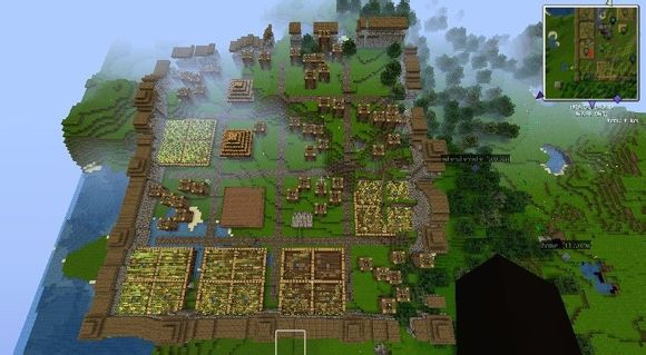 巨型村庄种子_我的世界创造模式的大村庄有铁傀儡的种子代码