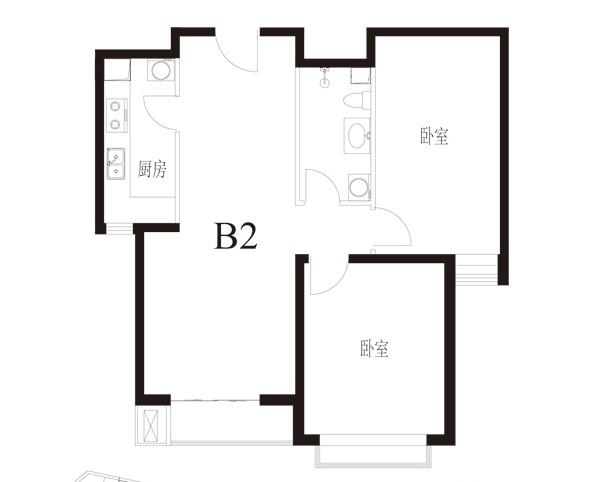 90平兩室兩廳新房裝修,進門是餐廳和客廳,請問怎么裝修合適?附戶型圖圖片