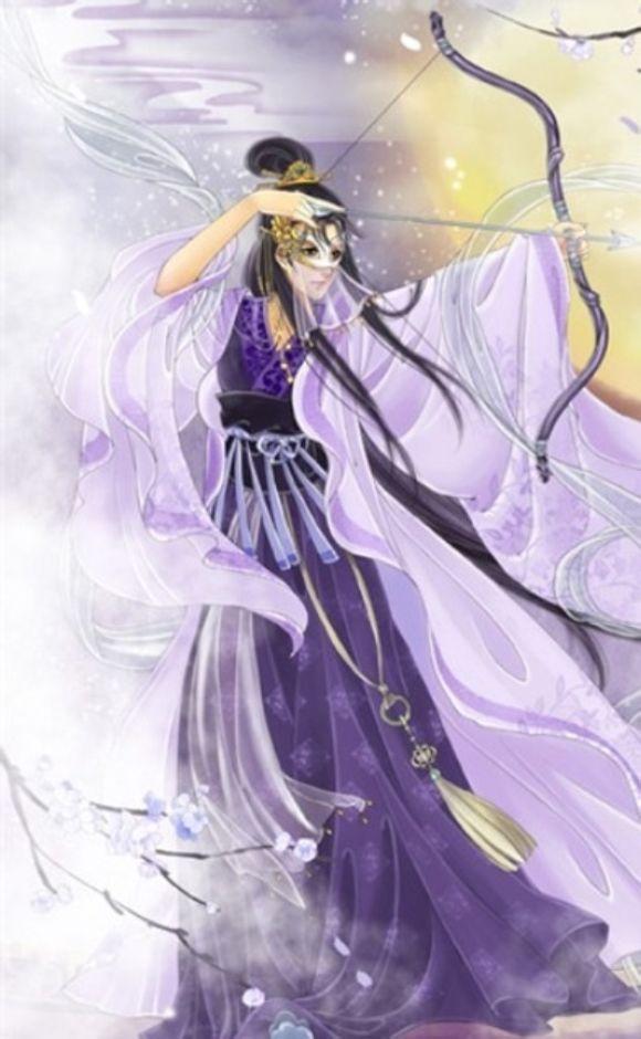 求图:有一个古代的蓝衣少女在吹笛子的图片,很唯美的一张。_百度知道