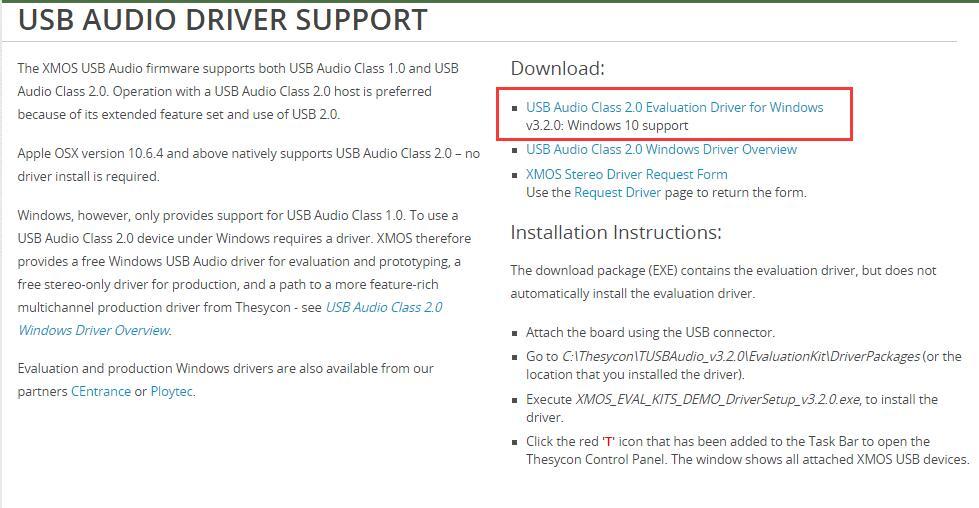 问xmos-stereo-usb-audio-class2-driver程序w10能安装吗_百度知道