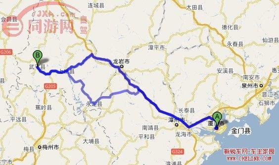 厦蓉高速公路地图