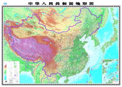 世界地图带山脉