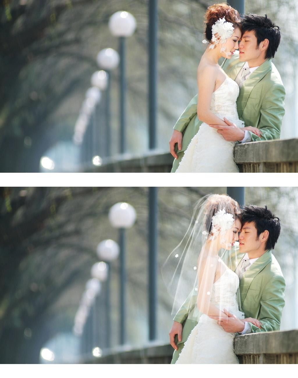 婚紗照沒帶頭紗可以合成嗎圖片