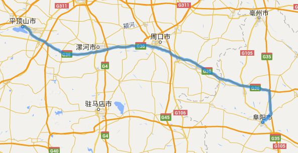 安徽省阜阳市位于河南平顶山哪个方向