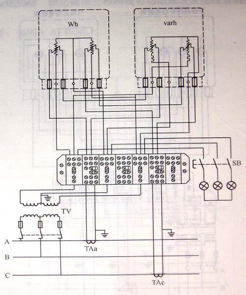 三相三线电能表无功计算公式