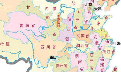 中国地图上黄河的位置_中国黄河长江经过哪里?地图_百度知道
