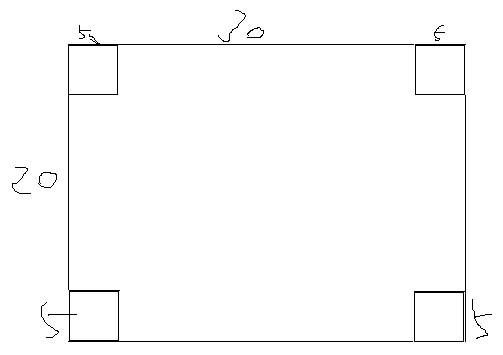 一块长方形苗圃的长_一块长方形的铁皮,长40厘米,宽30厘米,从他的四个角各减去 ...