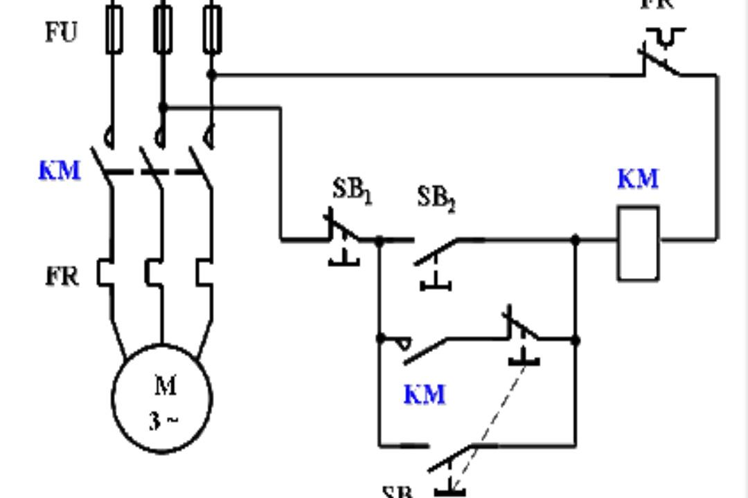 天晴数码_既可点动控制又可连续运转控制的电路图_百度知道