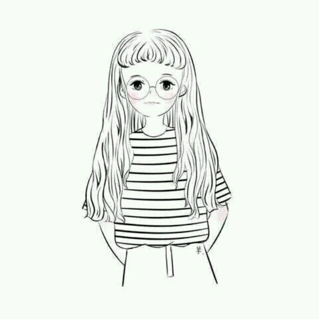 情侣头像 女生头像 简单 黑白