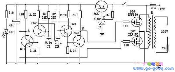 自制太阳能并网逆变器电路图_逆变器电路图,帮我解释这个电路图的工作过程和原理。_百度知道