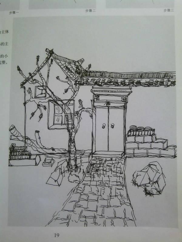 求几张简单的徽派建筑速写图 急 我是初学者图片
