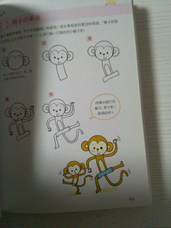 大猩猩简笔画是怎样做的