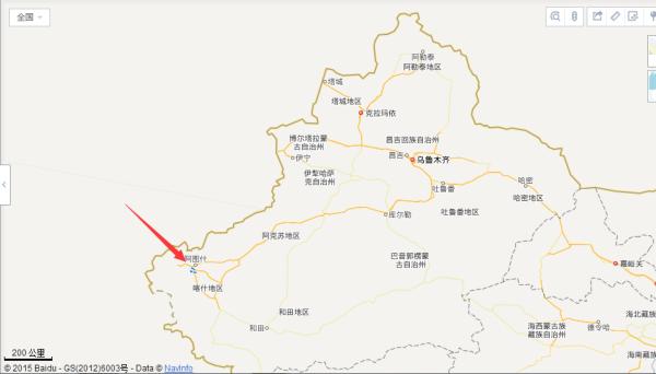 和田县地图_喀什属于北疆还是南疆_百度知道
