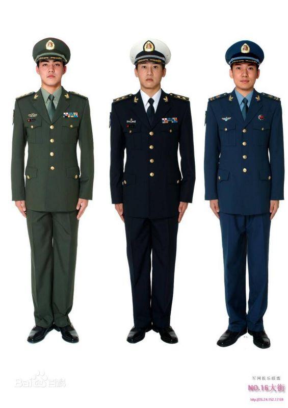 海军服装_陆军 海军 空军 武警 刚当兵的衣服分别是什么样子的 求图_百度知道