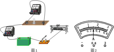 小华同学做 测定小灯泡的电功率 实验,电源电压为6V且保持不变,滑动变阻器标有 1A 30Ω 的字样,所