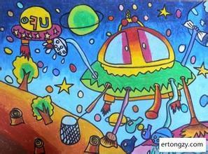 未来太空科幻画该怎么绘画图片