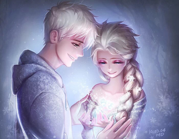 杰克冻人和艾莎图片_求艾莎和杰克冻人在一起的图片 要原版人物 高清图片 可以做 ...