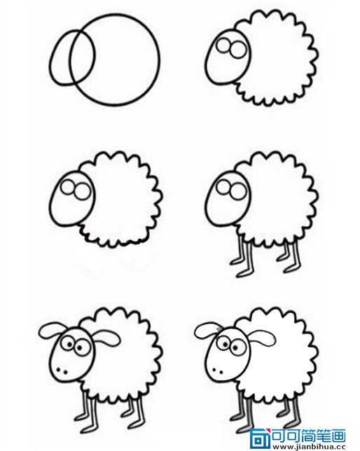小羊肖恩跟肖恩一起减肥手抄报简笔画