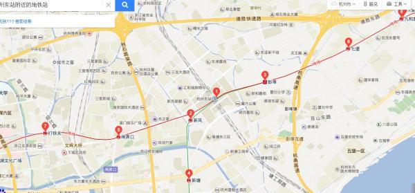 杭州东站附近有地铁站吗?