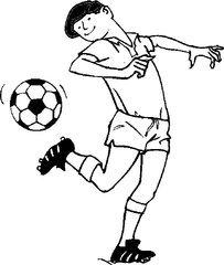 我与足球的简笔画有哪些
