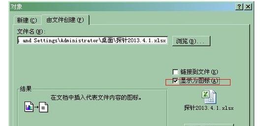 rd中就显示出excel文件图标的对象,双击可以打开excel文件.-如何图片
