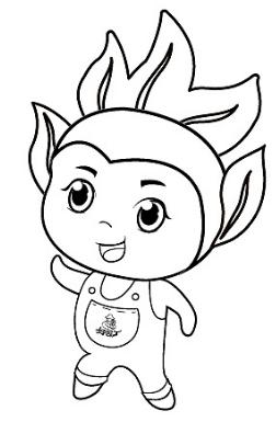 运动会吉祥物简笔画有哪些