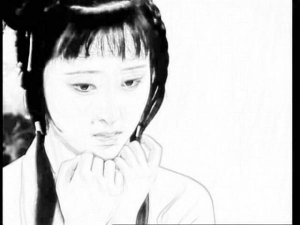 林黛玉的素描画