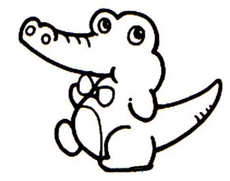怎样画鳄鱼,儿童简笔画鳄鱼
