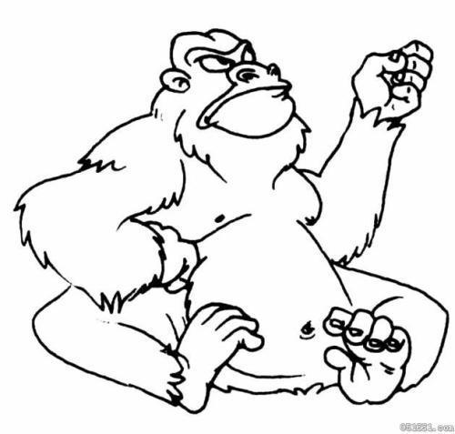 有没有大猩猩金刚的简笔画