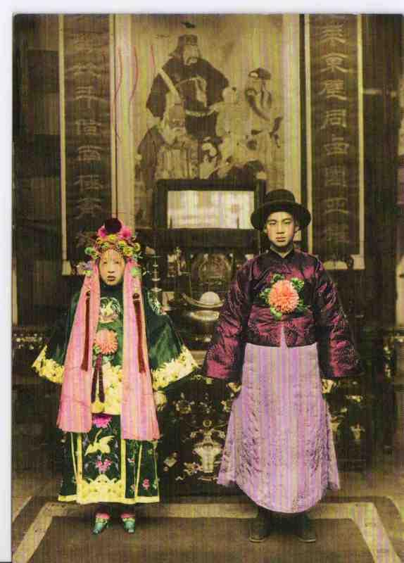 一张诡异的冥婚照片_有一张那张图是张结婚照,可能是20世纪的,那张图看起来很诡异 ...