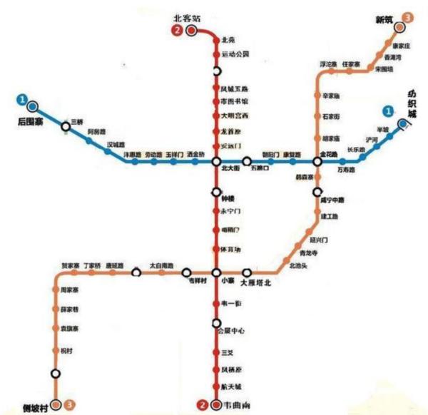 西安地铁一共要修几条线路分别从哪里到哪里? 行业新闻 丰雄广告第6张