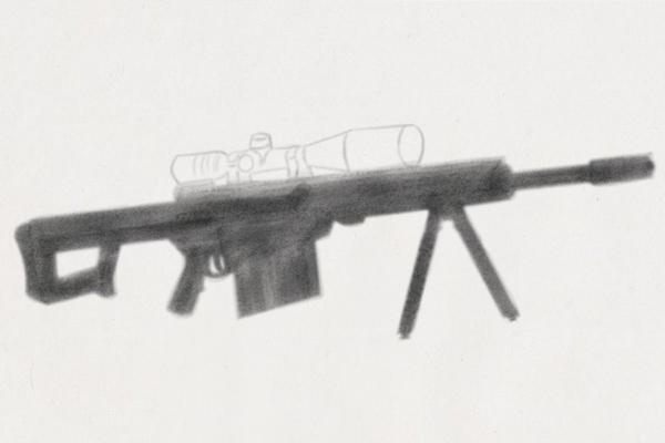 画枪的简笔画图片AWM