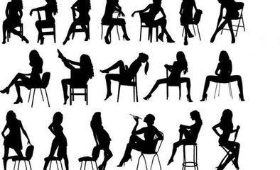 坐在椅上的人简笔画怎么画