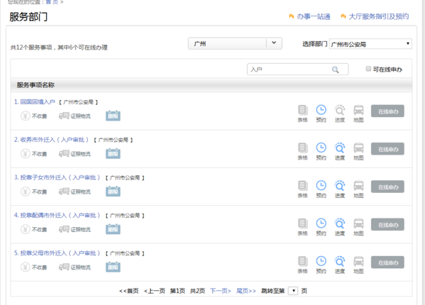 广州市金盾网政管理入户查询中心