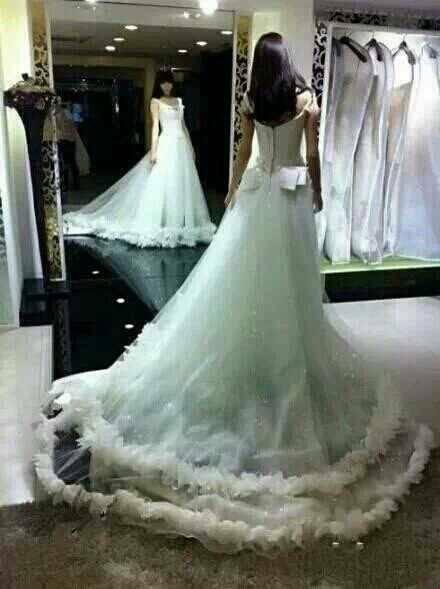结婚穿婚纱_鞠婧祎穿婚纱的照片