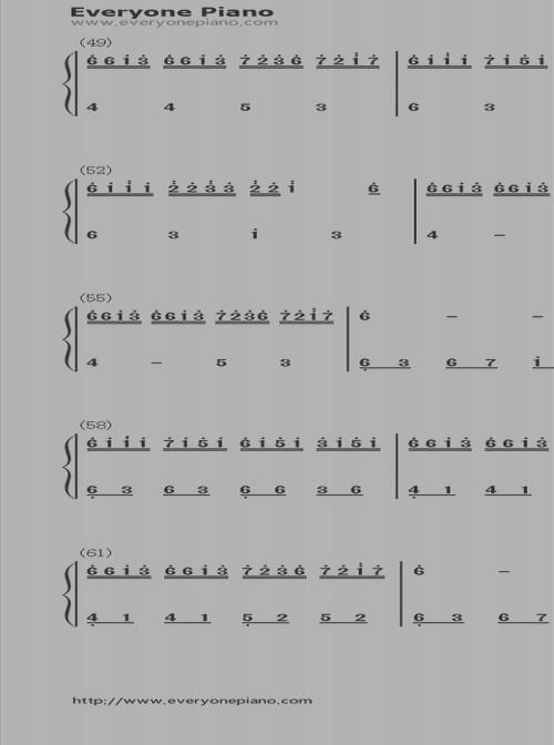 精选曲谱集_钢琴简单曲谱