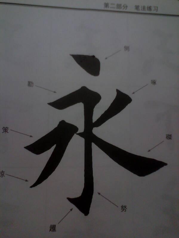 永�9�9�g�)_毛笔字 永的写法