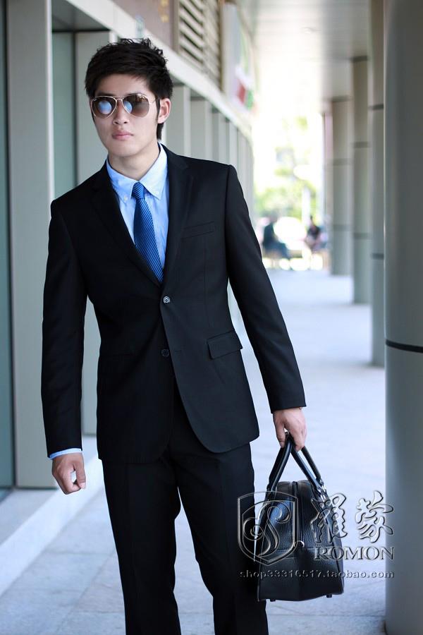 黑色衬衣配什么领带_结婚穿韩版黑西服配什么颜色衬衣和领带?_百度知道
