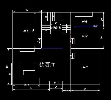 農村自建房裝修設計,聽說大門對著樓梯不太好,像我這種布局該如何室內