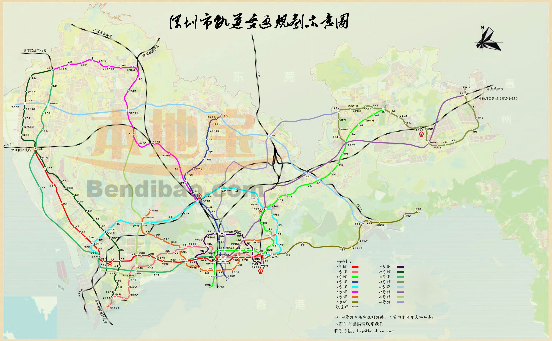 深圳平湖的地鐵規劃